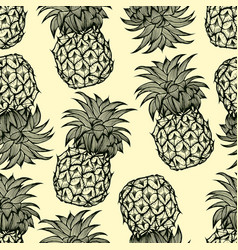 Pineapples hand drawn sketch vector