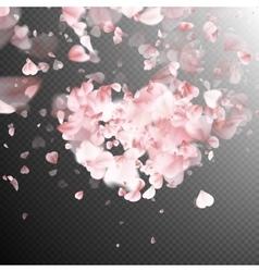 Pink petals falling EPS 10 vector