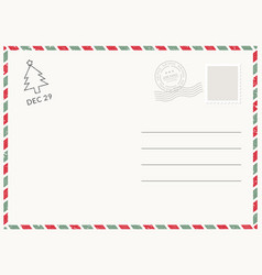 postcard template paper white texture vector image