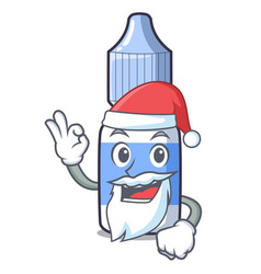 Santa eye drops isolated with characters vector