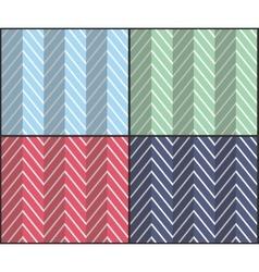 Set of Herringbone Zigzag Seamless Patterns vector image