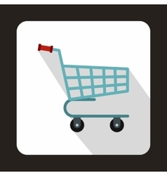 Shopping cart icon in flat style vector image