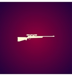 Sniper Rifle icon concept for vector image