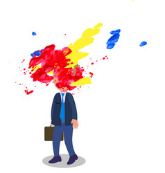 stressed manager with exploded head vector image