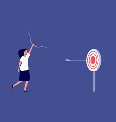 target goal female employee ambition business vector image