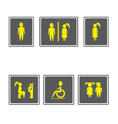 toilet signs restroom signboardsboy and girl vector image