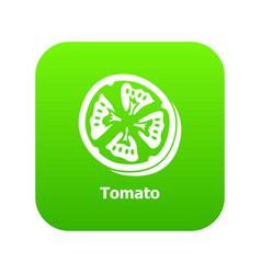 tomato icon green vector image