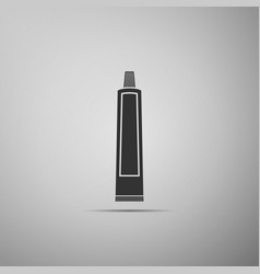 tube of toothpaste icon on grey background vector image