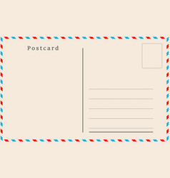 Vintage postcard design vector