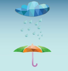 Weather Rainy And Umbrella vector image