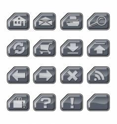 web icons a silver vector image