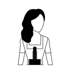 Woman avatar in traditional clothing bavarian vector
