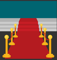 a stage with a red carpet flat vector image