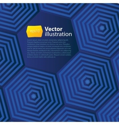 Abstract business background with hexagons vector image vector image