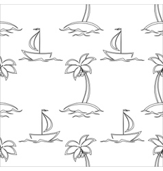 background islands and ships contours vector image vector image
