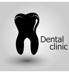 Human tooth emblem vector image vector image