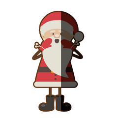 colorful silhouette caricature of santa claus vector image vector image
