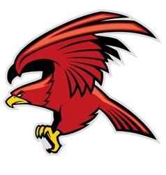eagle mascot vector image vector image