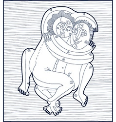 hand drawn lined monochrome of heterosexual vector image