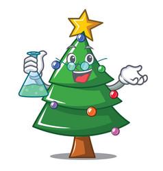 Professor christmas tree character cartoon vector