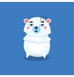 Sceptic Polar Bear vector image vector image