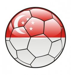 singapore flag on soccer ball vector image