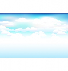 sky and clouds scene vector image vector image