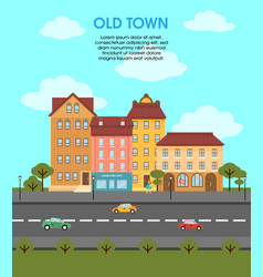 colorful flat urban landscape template vector image vector image