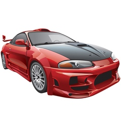 devils car vector image