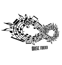 Forever music concept vector image