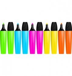 highlighter pens vector image
