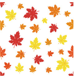 pattern with maples leaves vector image