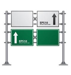 road Signs green vector image vector image