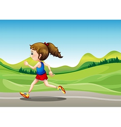 The female runner vector image vector image