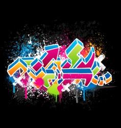 graffiti design vector image vector image