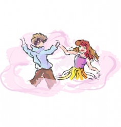 guy and girl vector image