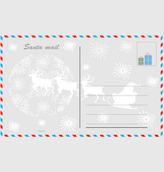 santa mail design postcard vector image