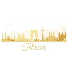 Tehran City skyline golden silhouette vector image vector image