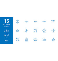 15 jet icons vector image