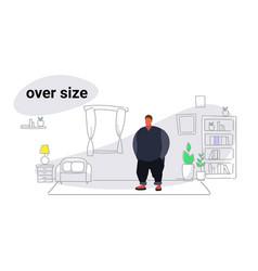 Abdomen fat overweight man fatty guy obesity over vector