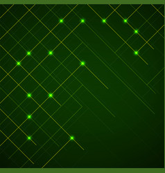 abstract background lines with glow points vector image