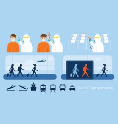 airport or public transport preventive measure vector image