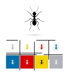 Ant silhouette icon vector