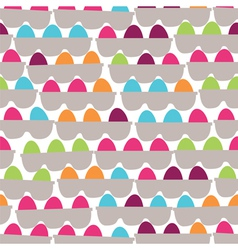 boxes with the painted festive eggs vector image
