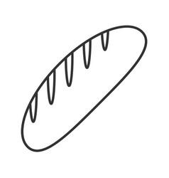 Bread loaf linear icon vector