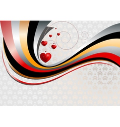 Bright curves on textured background and pattern o vector image