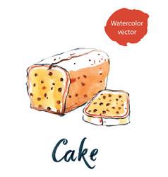 Cake with raisins vector