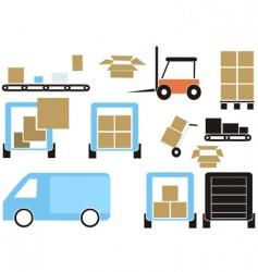 cargo elements vector image