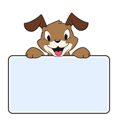 Cartoon Banner Dog vector image