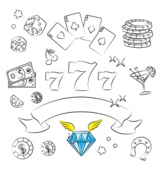 casino graphics vector image